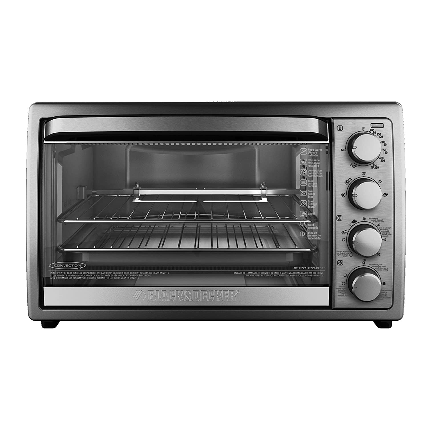 black decker rotisserie convection countertop toaster oven silver to4314ssd 692620184156 ebay. Black Bedroom Furniture Sets. Home Design Ideas