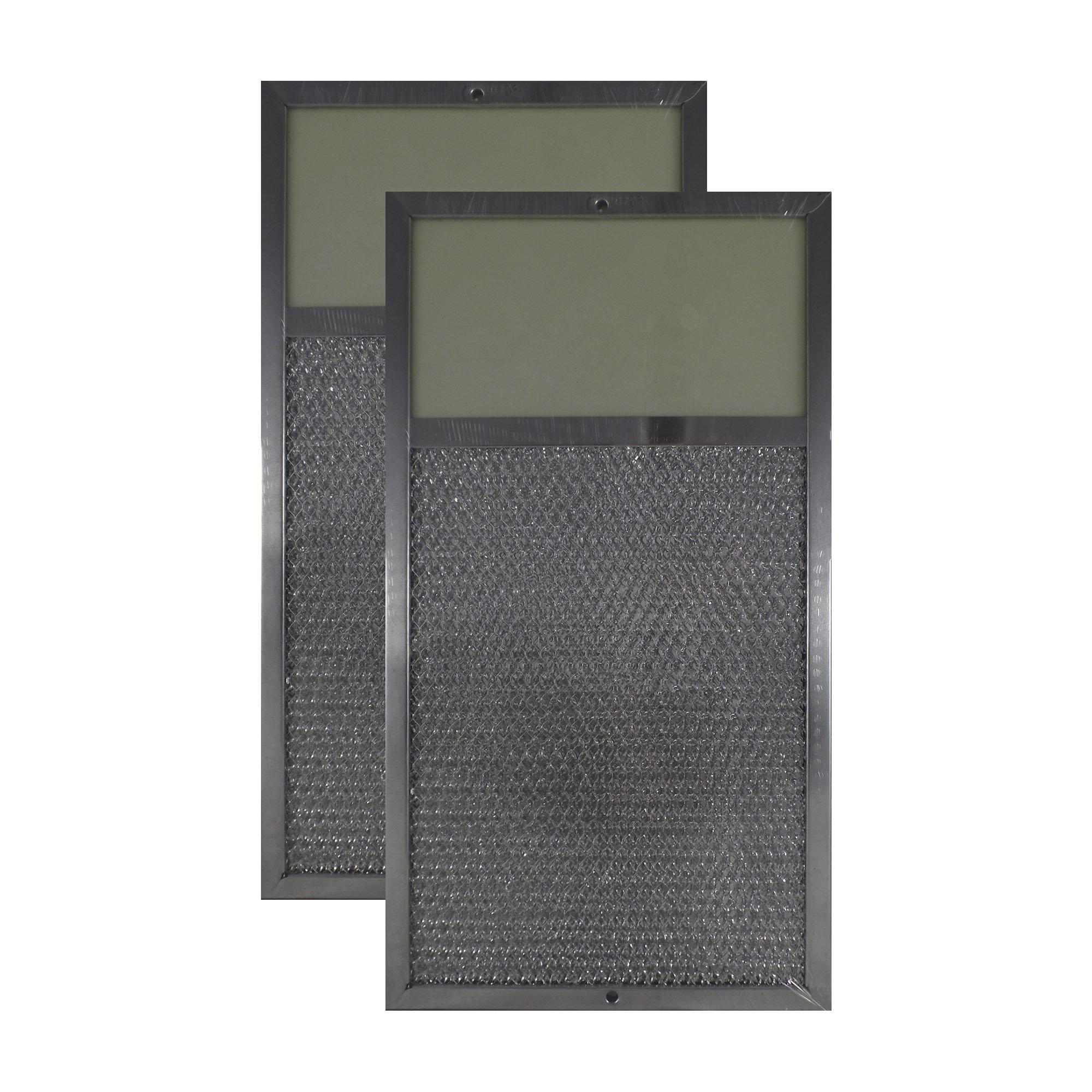 2-PACK Air Filter Factory 7-5/8 x 14-1/8 x 3/8 Range Hood Aluminum Charcoal Combo Lens Filters AFF118-CMB-L