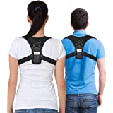 FitCorrect Posture Corrector for Men and Women - Comfortable Upper Back Brace Clavicle Support Strap for Thoracic Kyphosis and Shoulder