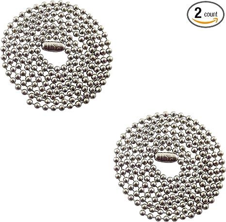 Amazon.com: Collar de cadena de bolas de acero inoxidable de ...