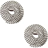 """2-30"""" Inch Stainless Steel Ball Chain Necklaces - 2.4mm - Military Dog Tag Necklaces"""
