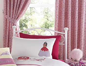 Pink Butterflies Once Upon a Time 72 Inch Drop Girls Curtains With ...