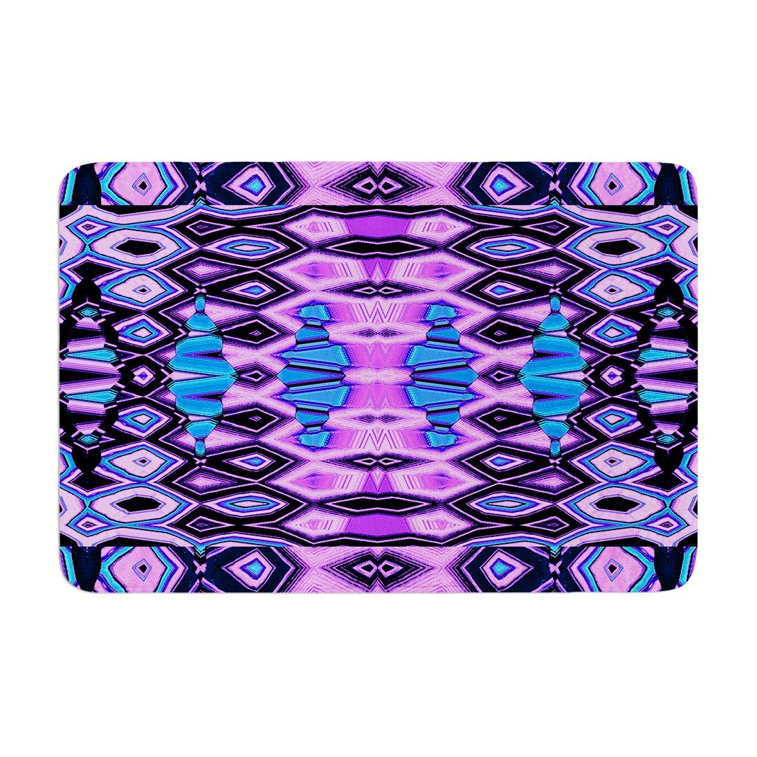 Kess InHouse Nina May Deztecca Lilac Purple Blue Memory Foam Bath Mat 17 by 24