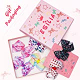 """Esilia 6Pcs 3"""" Girls Hair Bows Barrettes, Hair Bows Clips for Girl Teens Kids Babies Toddlers,6 Pieces"""