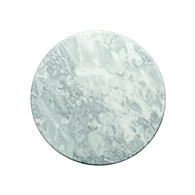 Kota Japan Premium Natural Stone Marble Round Cutting, Serving and Cheese Tray Board   12  X 12  Stone Plate for Kitchen or Parties  Safe on Counter Tops   Easy to Clean   Stays Cool   Perfect Gift!