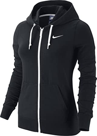 Nike Hoody Jersey Full Zip Sudadera, Mujer, Negro (Black/White), XS: Amazon.es: Zapatos y complementos
