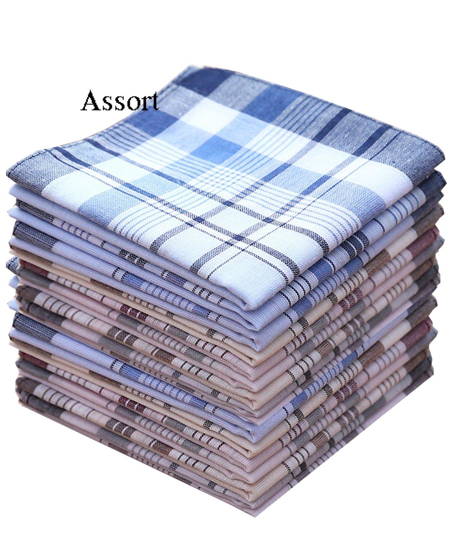 LACS Mens Color Strips Cotton Handkerchiefs Pack