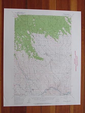 Halfway Oregon Map.Amazon Com Halfway Oregon 1958 Original Vintage Usgs Topo Map