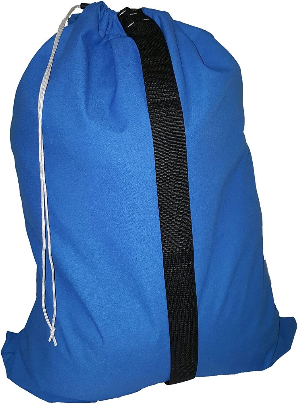 Owen Sewn Heavy Duty 30 X 40 Laundry Bag with Strap Blue