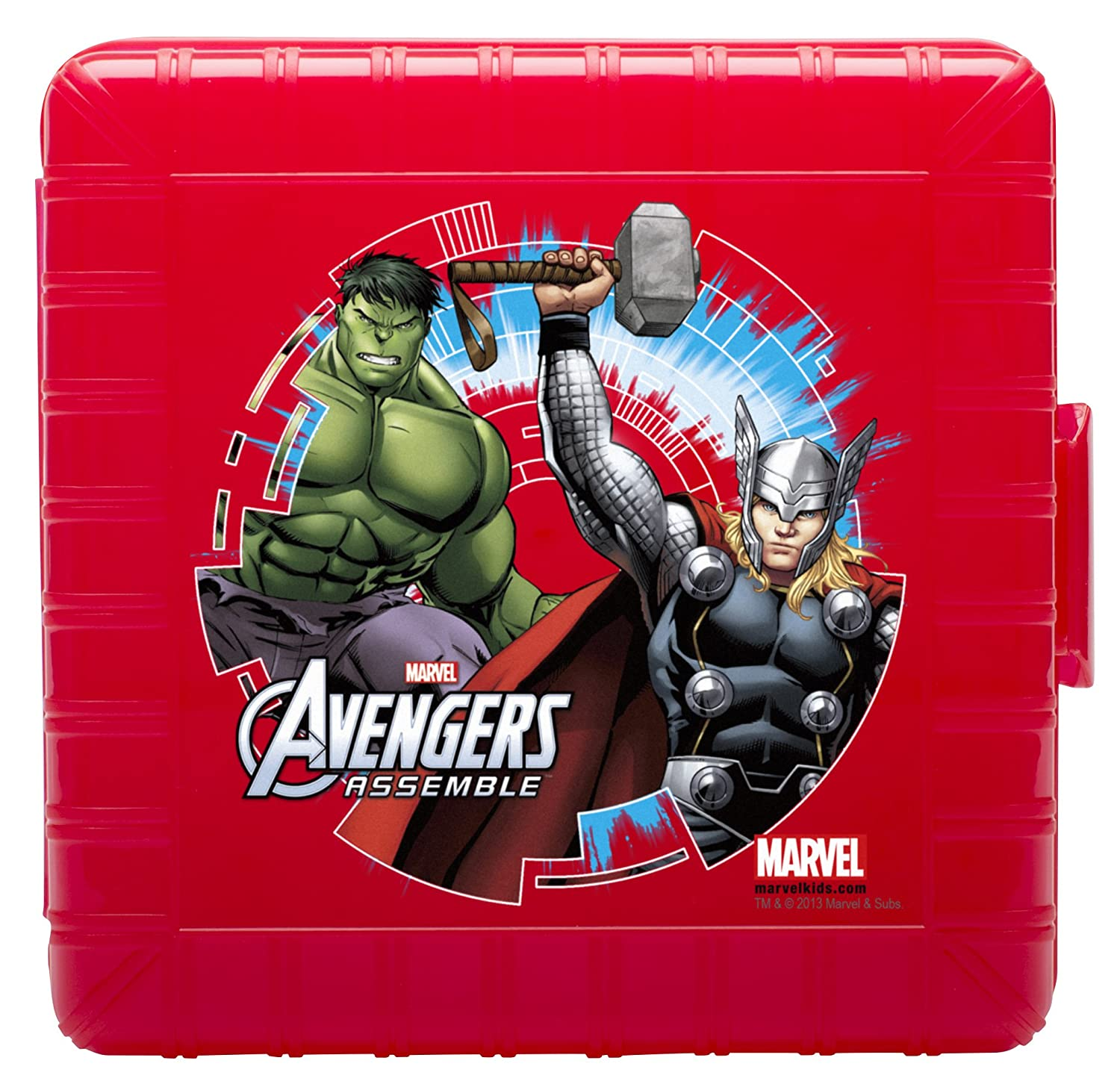 Zak! Designs GoPak Lunch Box Divided Food Storage Container featuring Avengers Graphics, Break-resistant and BPA-free Plastic Zak Designs AVNG-N451