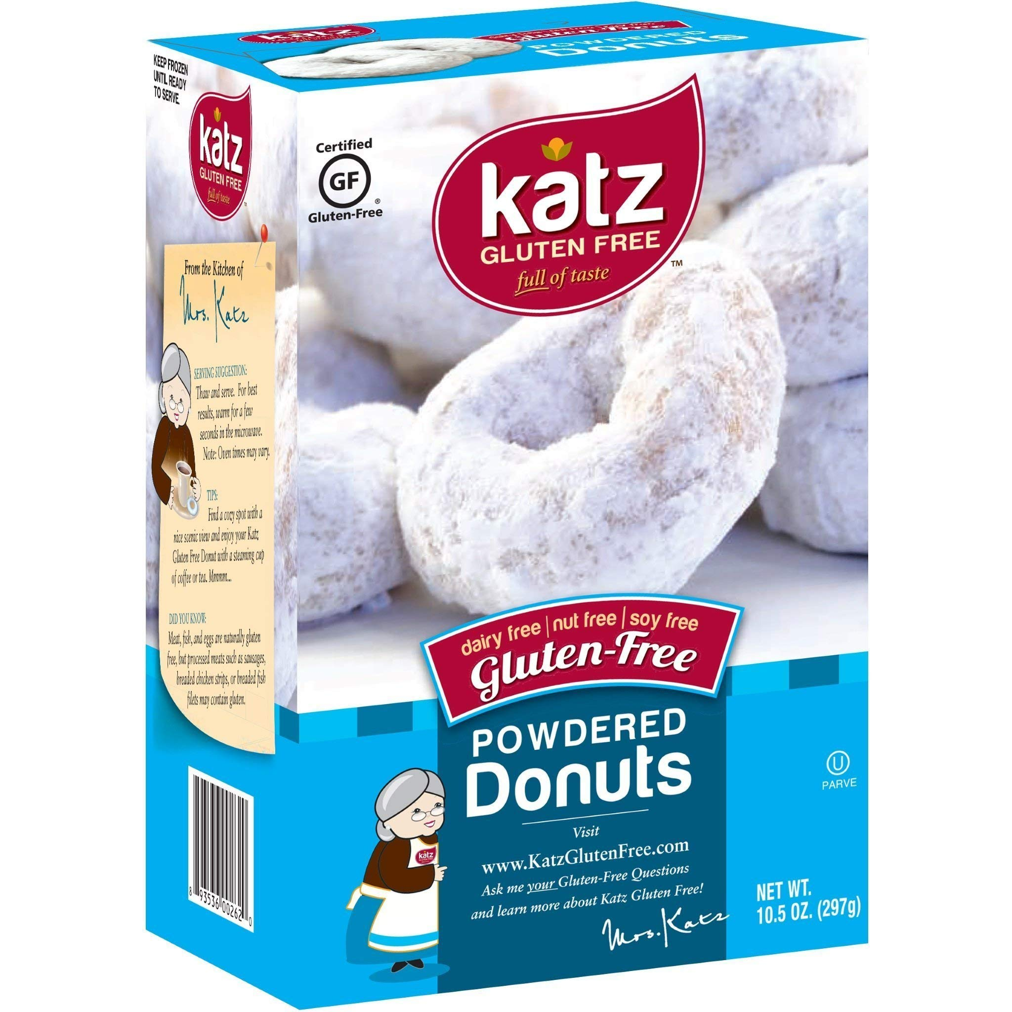 Katz Gluten Free Powdered Donuts | Dairy, Nut, Soy and Gluten Free | Kosher (6 Packs of 6 Donuts, 10.5 Ounce Each) by Katz Gluten Free