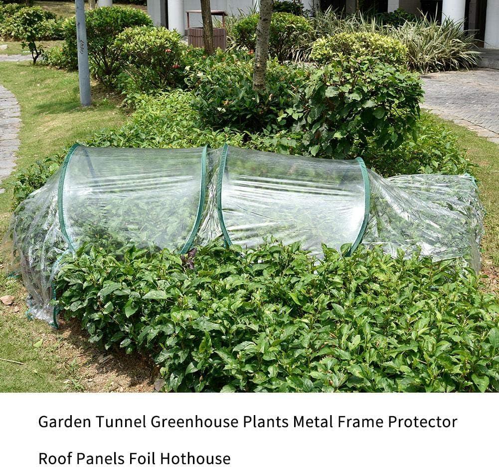 Invernadero Transparente Para Jardín O Terraza - Acero, Plástico Y Polietileno Invernadero De Jardín Y Terraza Para Cultivo De Plantas - Color Verde - Tubo Acero Y Plástico Túnel De Jardín