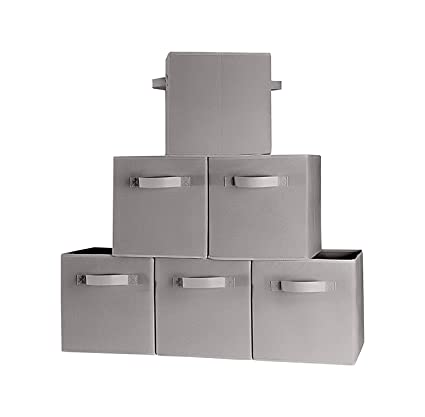 Prorighty (6 Pack, Grey) Storage Bins, Containers, Boxes, Tote