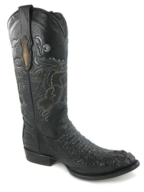 eb6052513 Botas Vaqueras de Caballero en Piel de Cocodrilo Cuadra  Amazon.es  Zapatos  y complementos