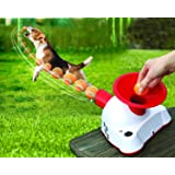 Gotcha Talking Dog Fetch Toy, An Automatic Ball Thrower/Launcher - Interactive Electronic Fetch Machine with 3 Small Tennis Balls