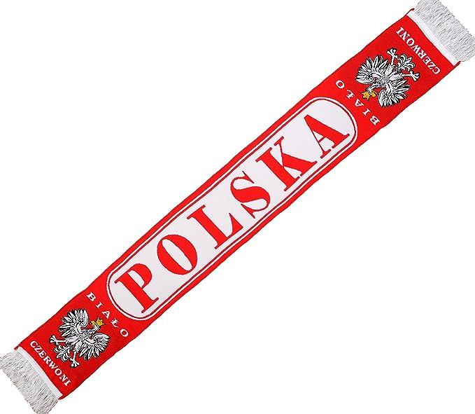 Auténtico Polonia Polska ovalado de fútbol bufanda E3gRQVp