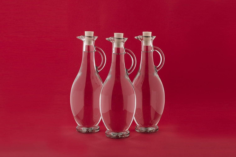 6 Botellas de Vidrio Vacías 250/500 ml 6 Unidades a Elegir con Corcho para Rellenar Botellas para Licor Vinagre Aceite Aguardiente Zumo 0,2 5/0,5 Litros de ...