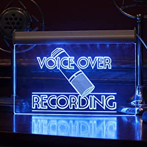 Multi-Color LED Voice Over Recording Sign with Remote Control