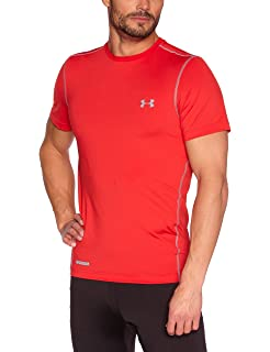 4772a3a3cd369 Amazon.com: Under Armour Heatgear Sonic Fitted Printed SS T Shirt ...
