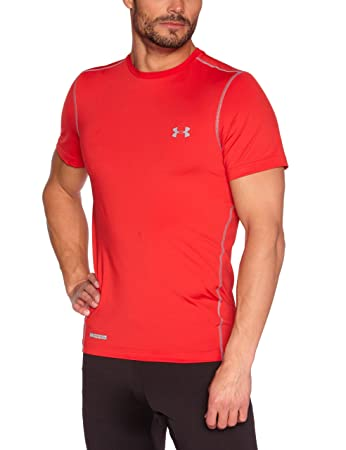 62686c5ee654 Under Armour Herren Top Heatgear Sonic Fitted Short Sleeve, Red, S ...