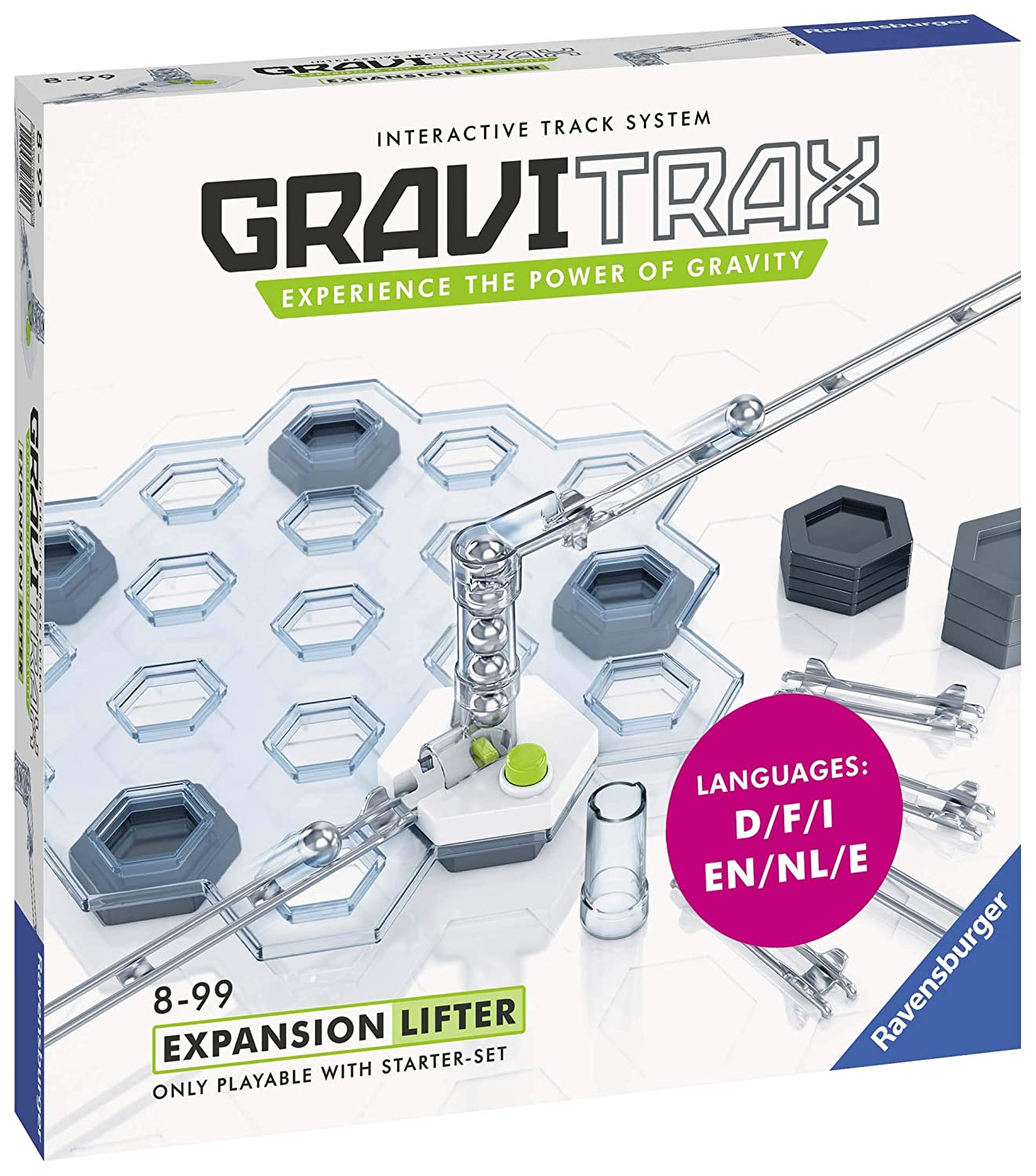 Expansion for 2019 Toy of The Year Finalist Gravitrax Ravensburger Gravitrax Lifter Expansion Set Marble Run /& STEM Toy for Boys /& Girls Age 8 /& Up