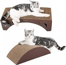 SONGMICS 2-in-1 Cat Scratcher Lounge Pad Cardboard Brown UPCS60Z