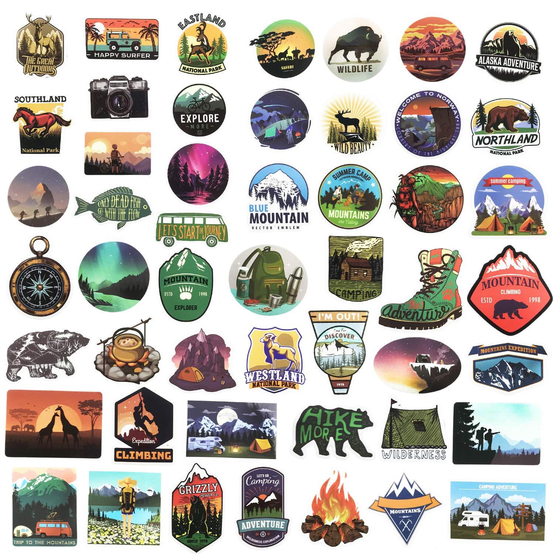 Stickers Calcos 50 un. Surtidos Origen U.S.A. (7T58ZCNV)