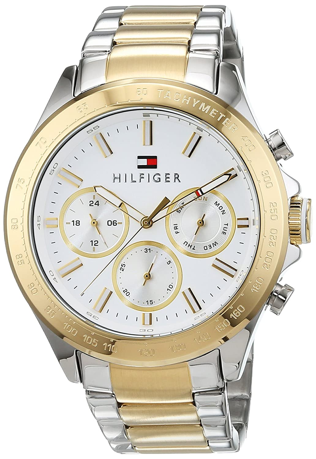 1bc1b003ef2 Tommy Hilfiger Mens Quartz Watch, multi dial Display and Stainless Steel  Strap 1791226: Amazon.co.uk: Watches