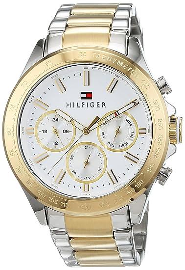Reloj para hombre Tommy Hilfiger 1791226, mecanismo de cuarzo, diseño con varias esferas, correa de acero inoxidable.: Amazon.es: Relojes