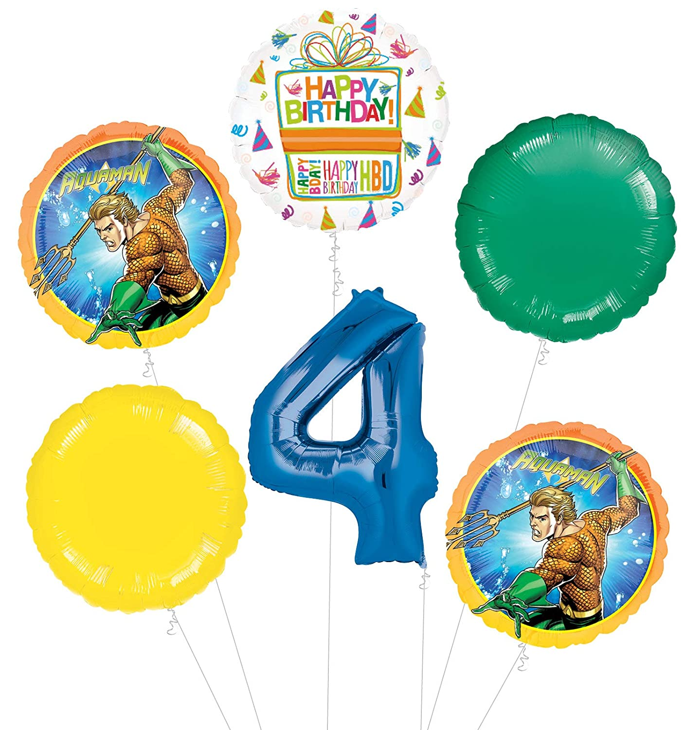 Amazon Aquaman 4th Birthday Party Supplies Balloon Bouquet Decorations Toys Games