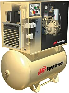Ingersoll Rand Rotary Screw Compressor with Total Air System - 230 Volts, 3-Phase, 15 HP, 55 CFM, Model Number UP6-15cTAS-125