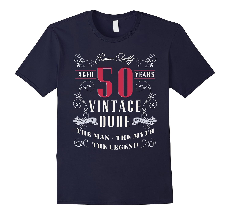 Mens BIRTH DAY GIFT AGE 50 VINTAGE MAN MYTH LEGEND T SHIRT-TH