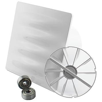 MKK - 18196 - Trico Diseño Vital Ventilador Turbo Ventilador baño Ventilador Válvula antirretorno Tren circuito: Amazon.es: Bricolaje y herramientas
