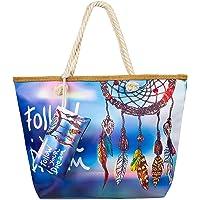 Comius Sharp Bolso de Playa Grande, Bolsa de Playa para Mujer, Totalizador de Lona Shopper Bolsa de Hombro, Impermeable…
