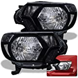 AJP Distributors For Tacoma Front Bumper Headlight Head Lights Lamps Upgrade Assembly Pair Left Right 2012 2013 2014 2015 12