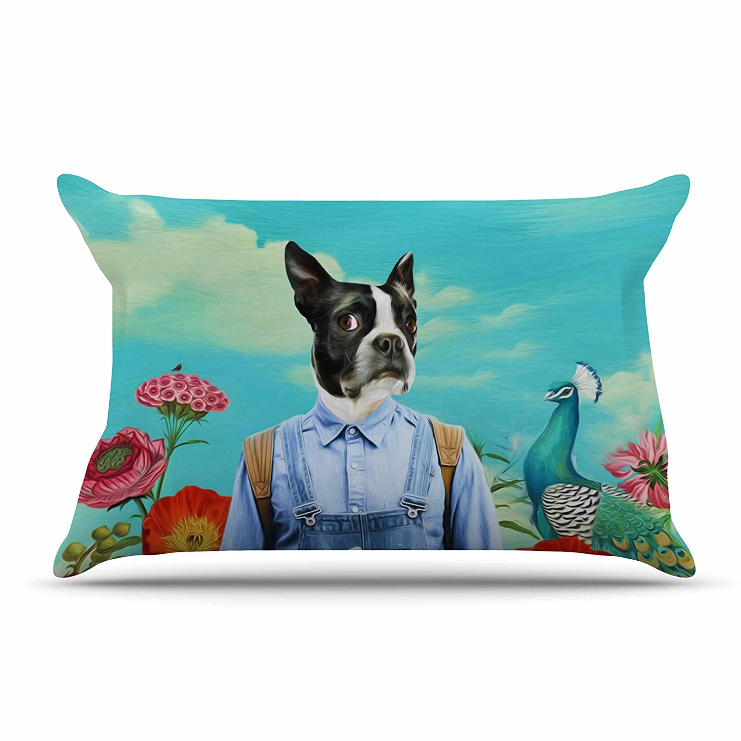 Kess InHouse Natt Family Portrait N3 Blue Dog Standard Pillow Case 30 X 20 30 by 20-Inch