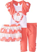 Young Hearts Baby Girls' 3 Piece Legging Set with Matching Skirt