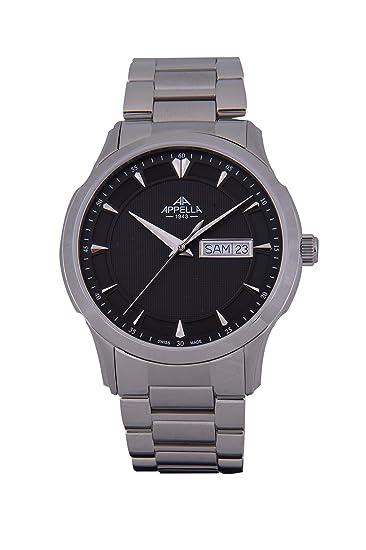 Appella AP.4389.03.0.0.04 - Reloj para hombres, correa de acero inoxidable color plateado: Amazon.es: Relojes