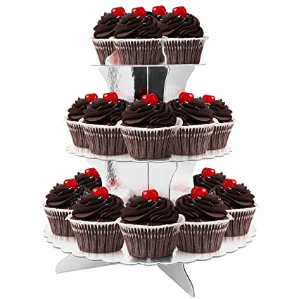 Amazon 40Tier Cardboard Party Cupcake Display StandDessert Simple How To Display Cupcakes Without A Stand
