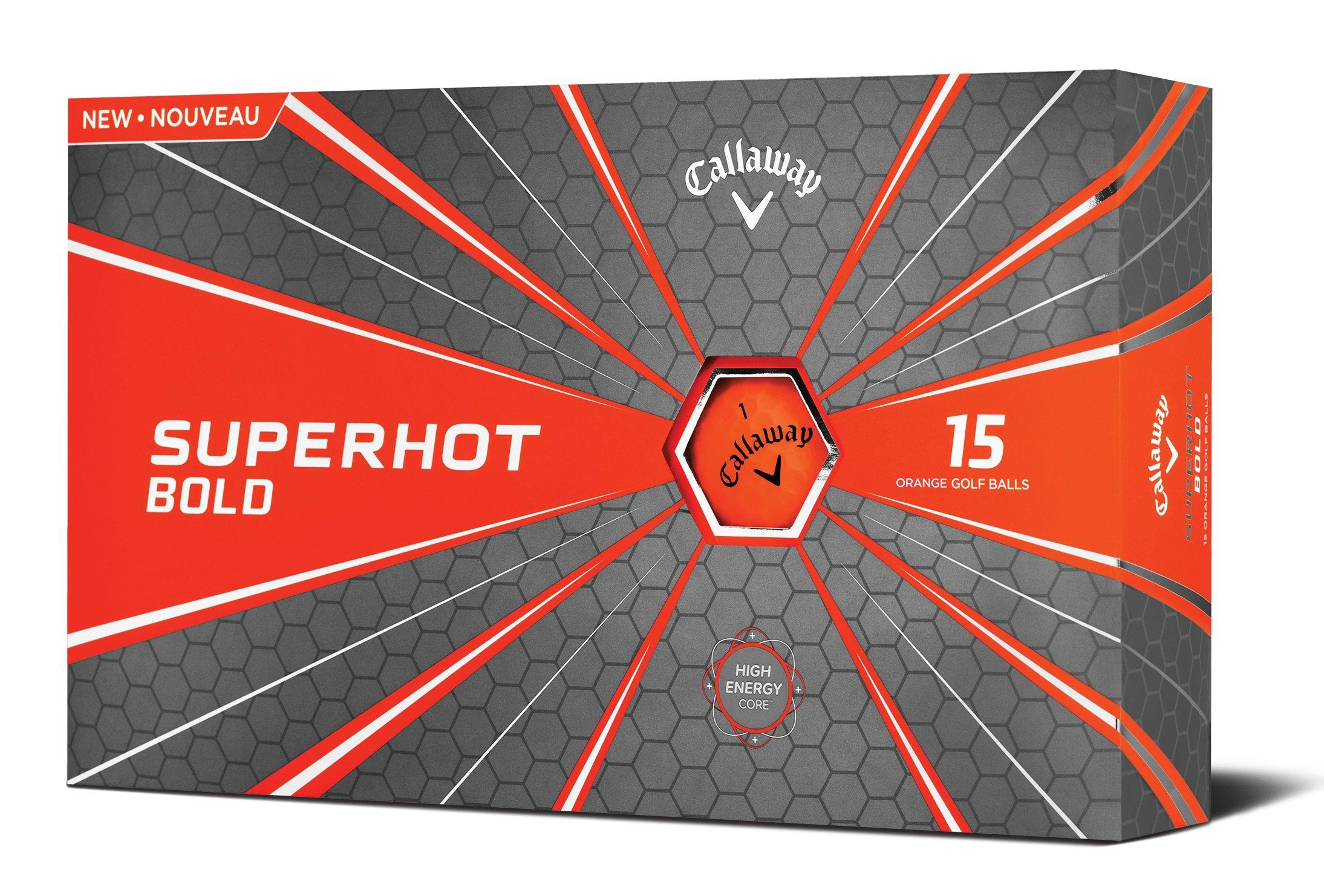 Callaway Superhot Bold Golf Balls, Orange, Pack of 15 (2018 Version)
