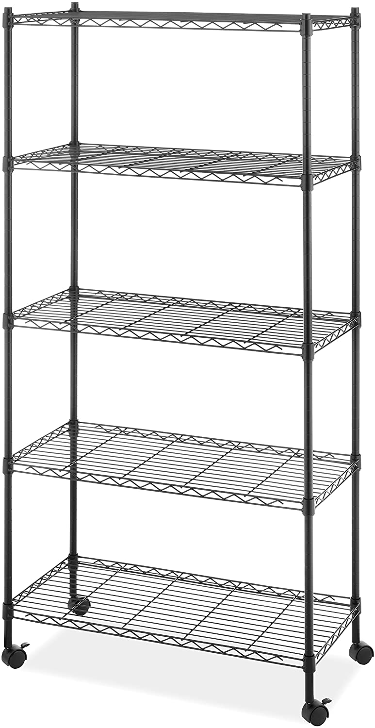 Whitmor Supreme 5-Tier Cart holds up to 1,000 lbs. Black: Home & Kitchen