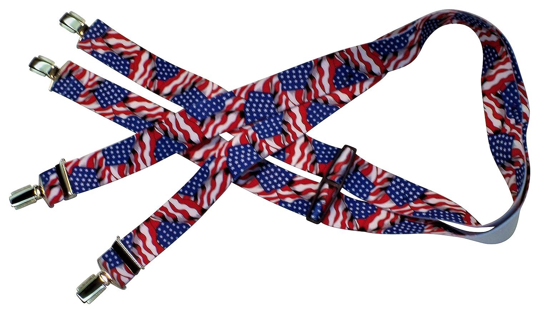Anzug-Hosentr/äger Arbeitskleidung-Hosentr/äger USA-Flagge Stars and Stripes One Size 120 cm Teichmann Amerikanische Hosentr/äger Damen und Herren