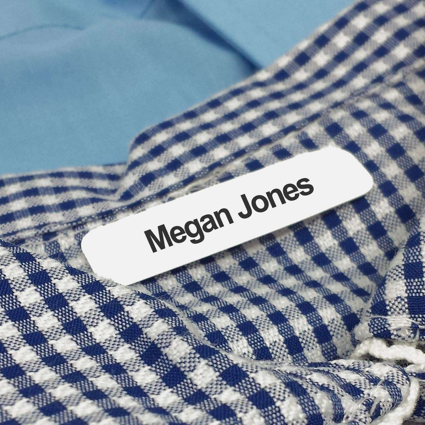 50 Printed Iron-on Name Labels/Tags for School, Care, Nursing or Camp