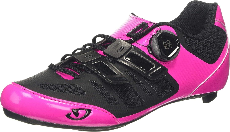 Giro Raes Techlace Cycling Shoe - Women's Bright Pink/Black, 37.5