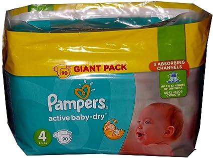 Pampers Activo Baby-Dry anti-leak pañales para día y noche Maxi talla 4