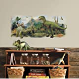 RoomMates Dinosaurs Giant Scene Peel And Stick Wall Graphic,Multicolor