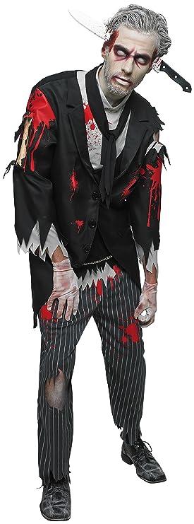 Disfraz de mayordomo zombie, para hombre, mayordomo ...