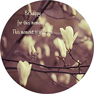 """product image for Next Innovations Motivational Wall Art Happy Moment 16"""" Round"""