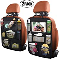 $21 » ONE PIX Car Backseat Organizer with Touch Screen Tablet Holder + 7 Storage Pockets, Kick Mats…