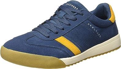 desaparecer vitamina Uluru  SKECHERS Zinger Wildview Sneakers - Hombre - Azul marino y amarillo:  Amazon.es: Zapatos y complementos